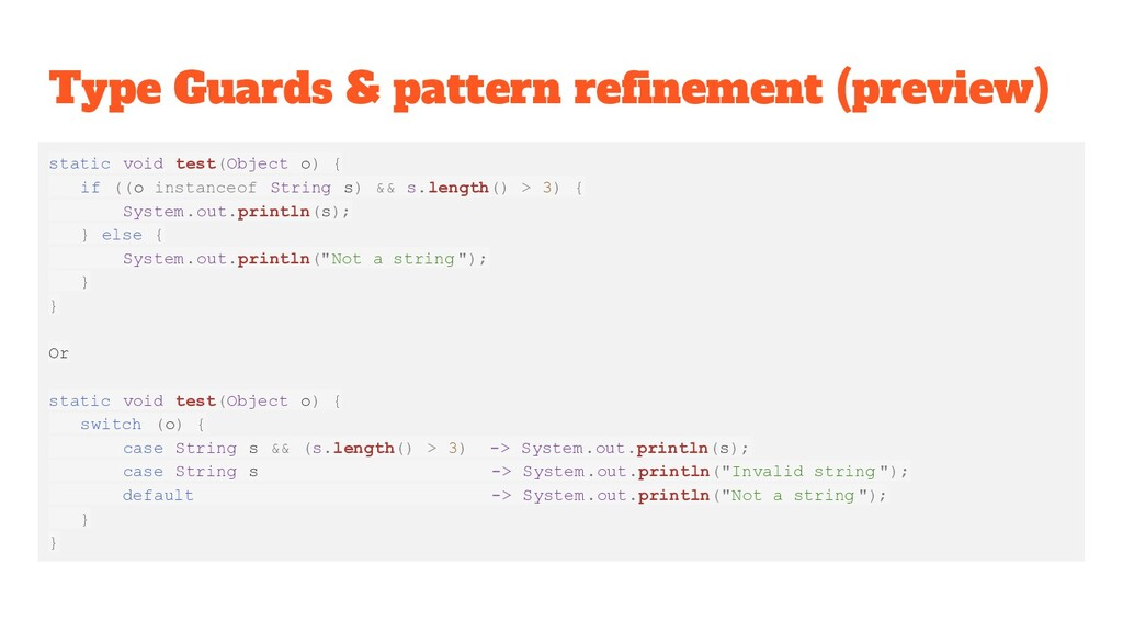 Type Guards & pattern refinement (preview) stati...