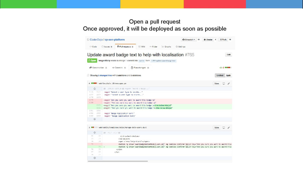 Open a pull request Once approved, it will be d...
