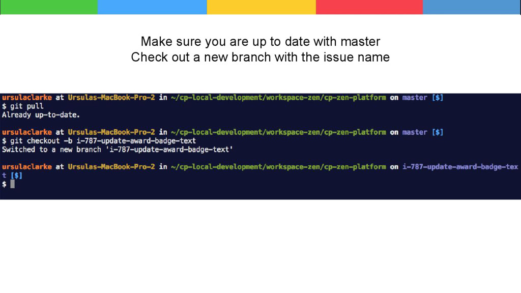 Make sure you are up to date with master Check ...