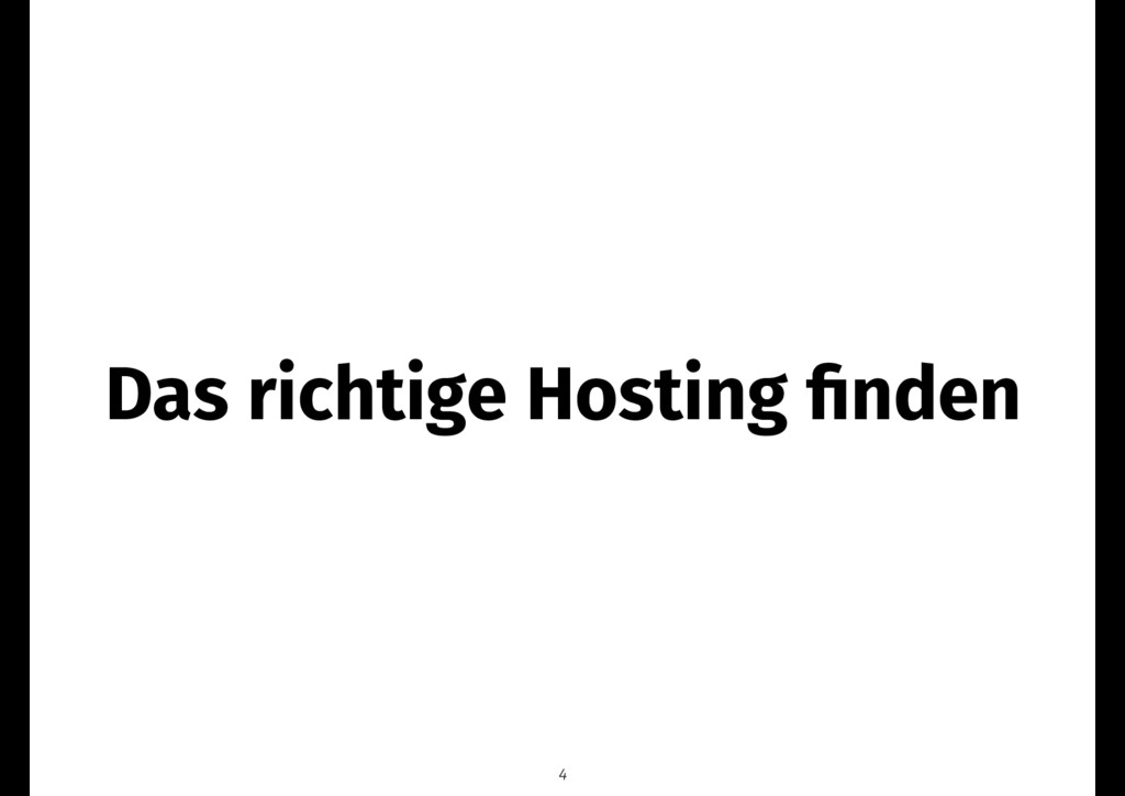 Das richtige Hosting finden 4