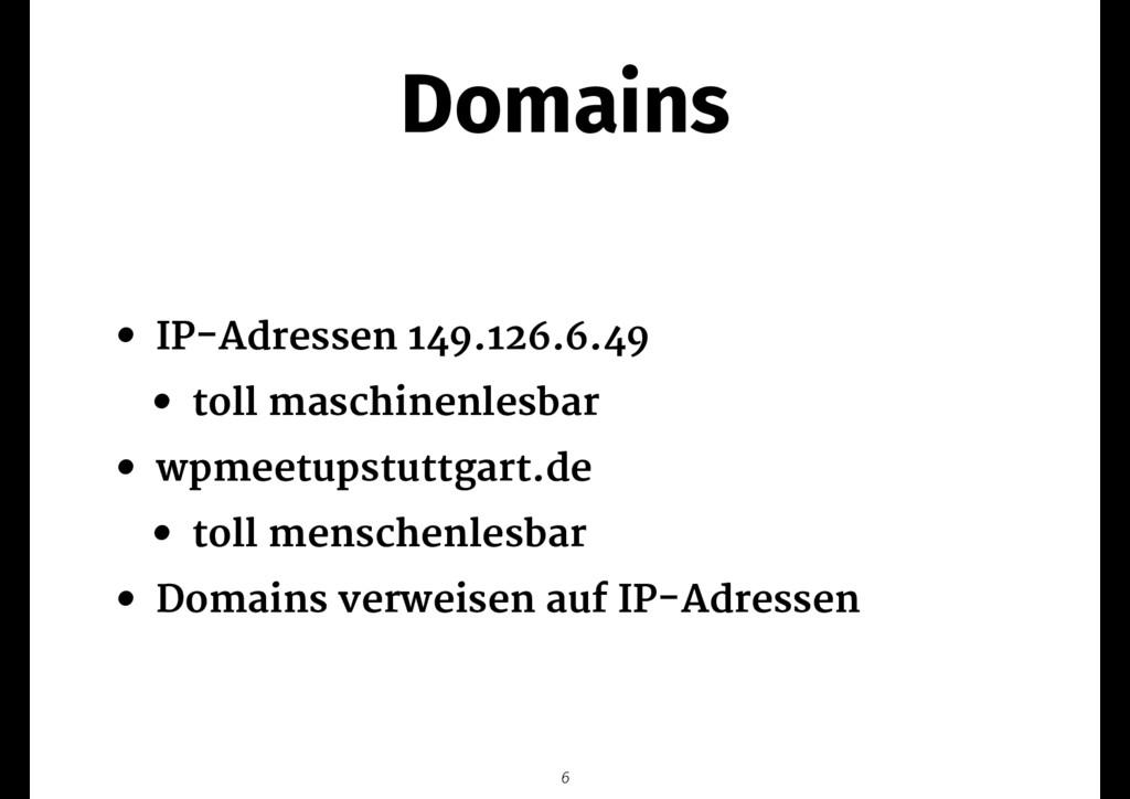 Domains • IP-Adressen 149.126.6.49   • toll mas...