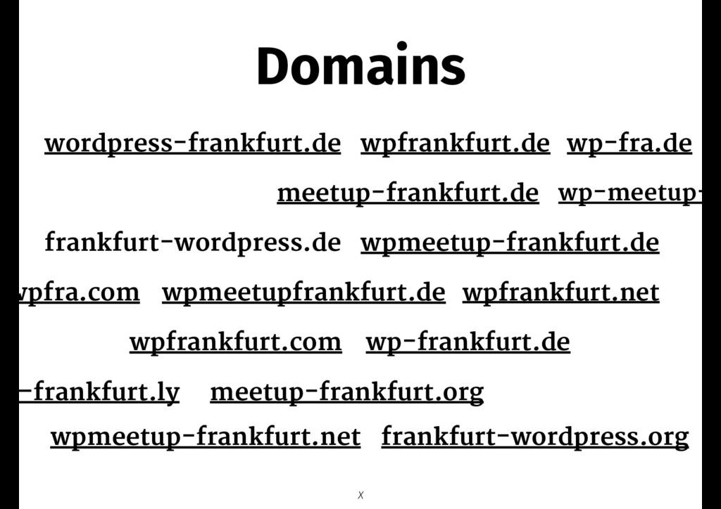Domains wordpress-frankfurt.de X wp-frankfurt.d...