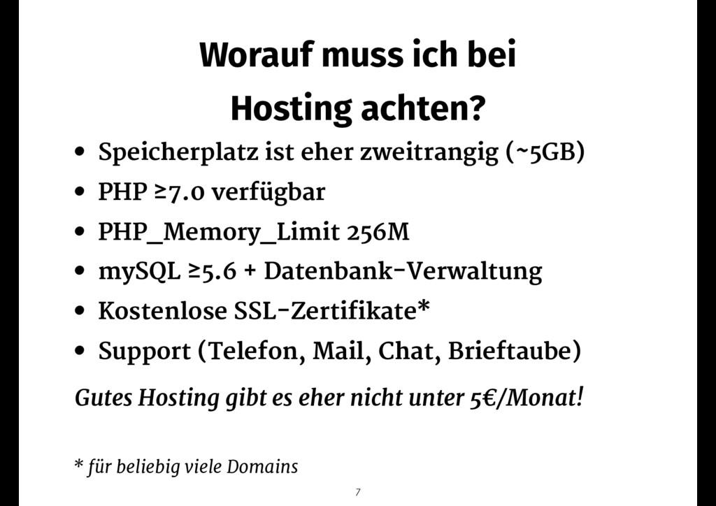 Worauf muss ich bei Hosting achten? • Speicherp...