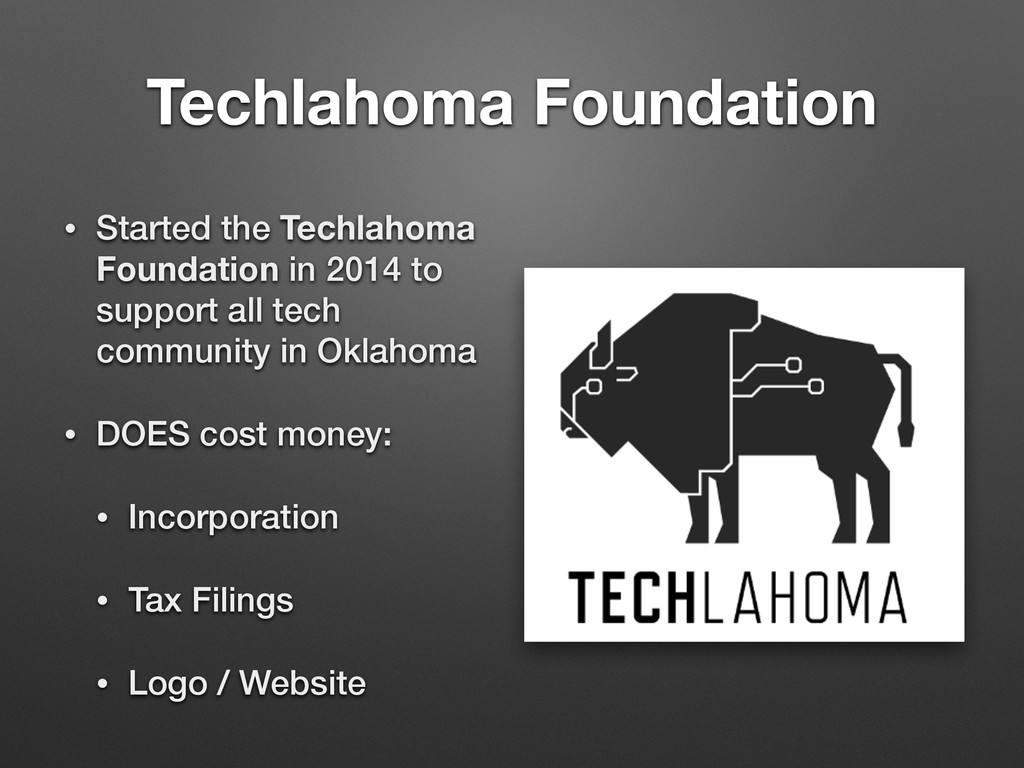 Techlahoma Foundation • Started the Techlahoma ...