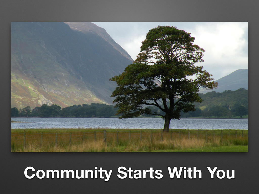 Community Starts With You