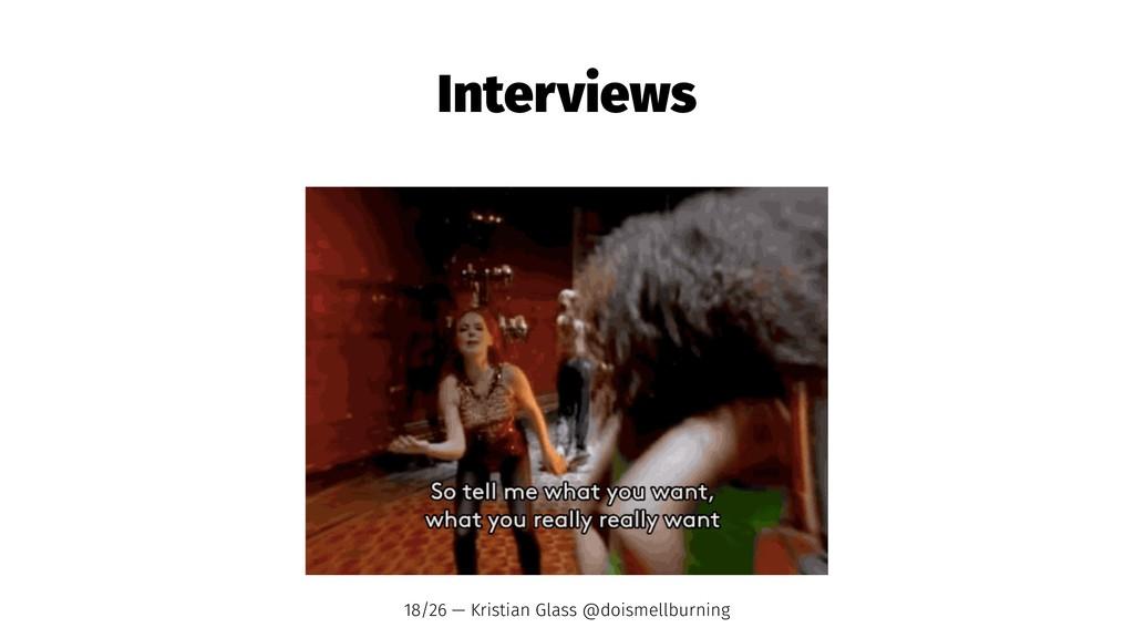 Interviews 18/26 — Kristian Glass @doismellburn...