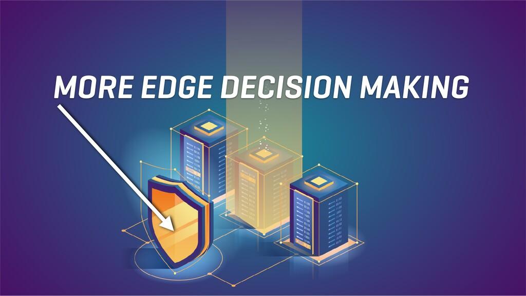 MORE EDGE DECISION MAKING