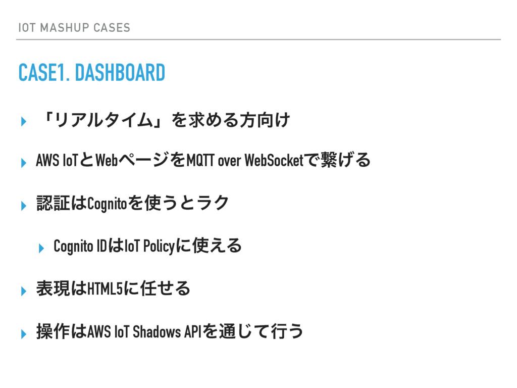 IOT MASHUP CASES CASE1. DASHBOARD ▸ ʮϦΞϧλΠϜʯΛٻΊ...