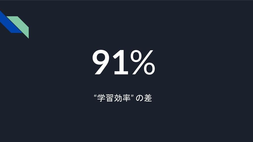 """91% """"学習効率"""" の差"""