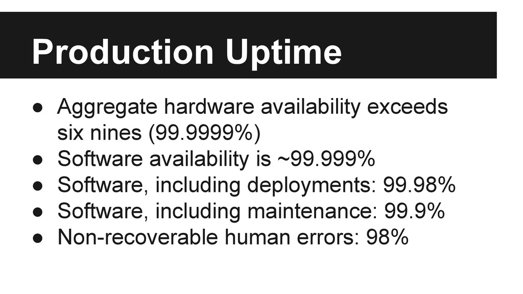 ● Aggregate hardware availability exceeds six n...