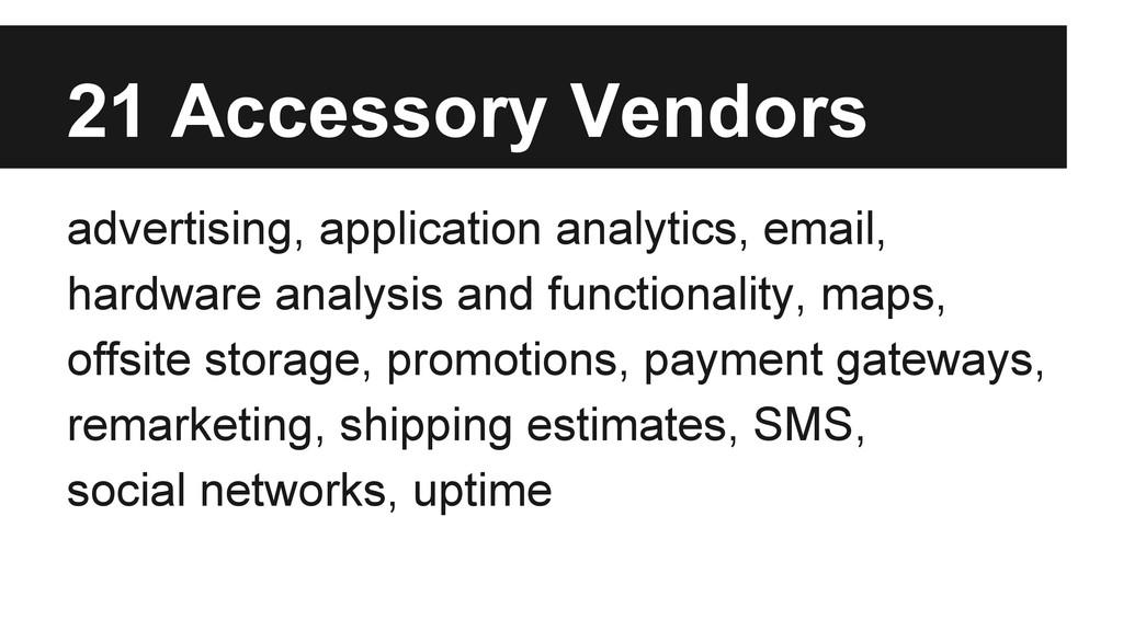 advertising, application analytics, email, hard...