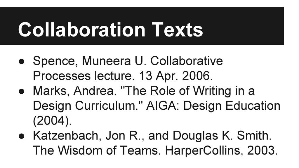 ● Spence, Muneera U. Collaborative Processes le...