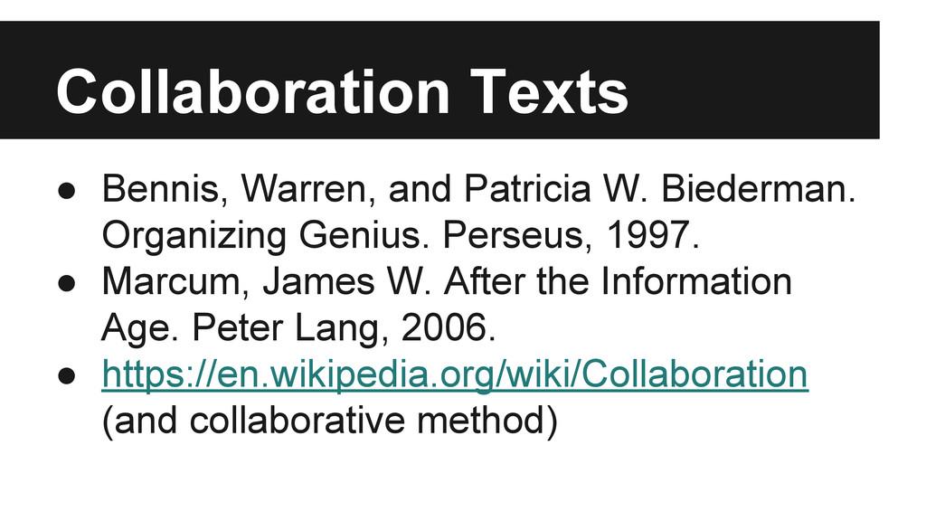● Bennis, Warren, and Patricia W. Biederman. Or...