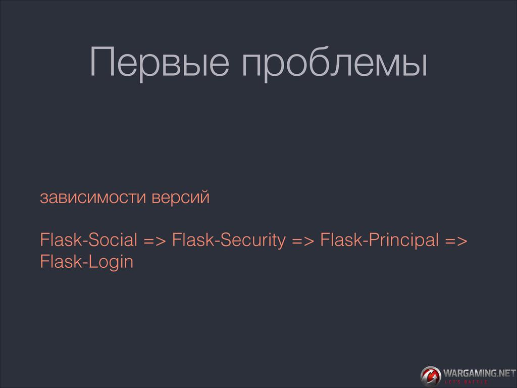 Первые проблемы зависимости версий Flask-Social...
