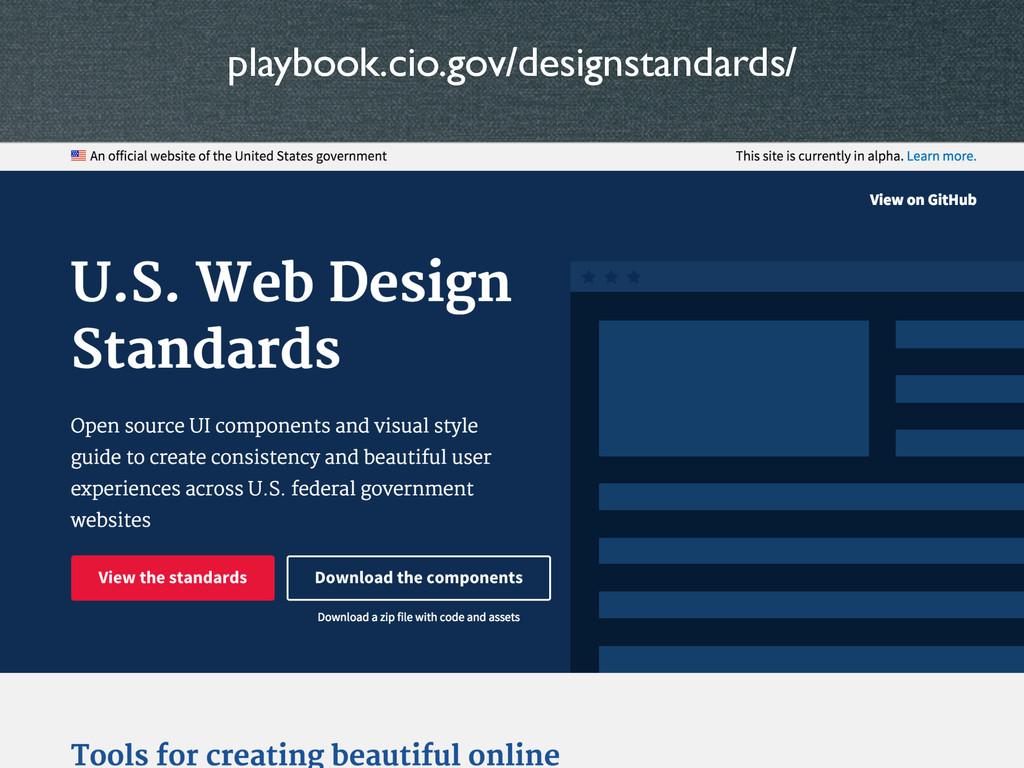 playbook.cio.gov/designstandards/