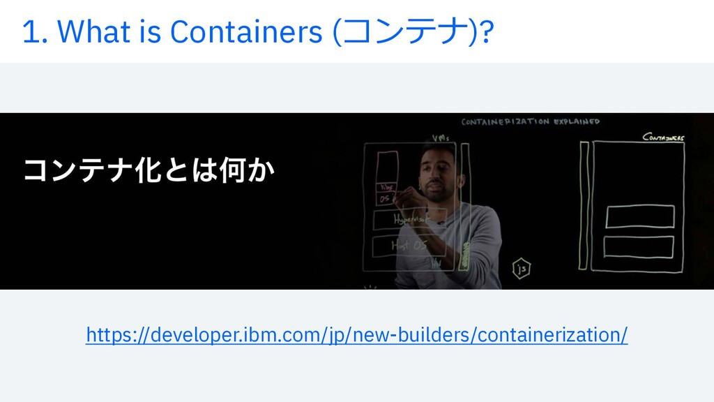 1. What is Containers (コンテナ)? https://developer...