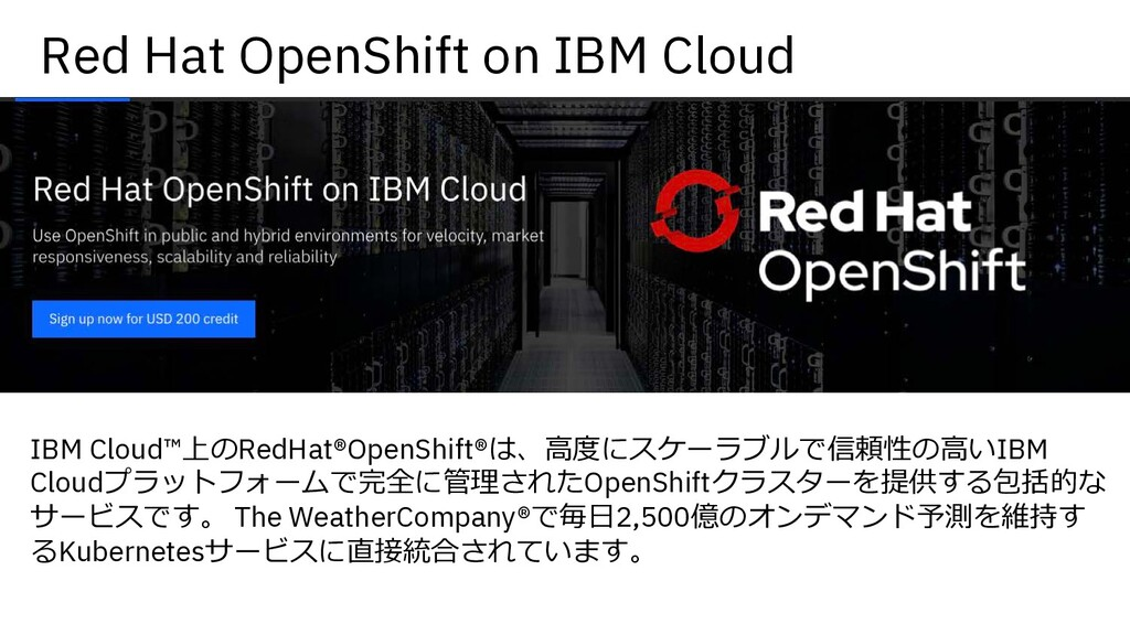 Red Hat OpenShift on IBM Cloud IBM Cloud™上のRedH...