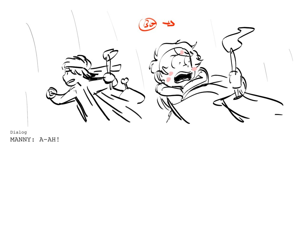 Dialog MANNY: A-AH!