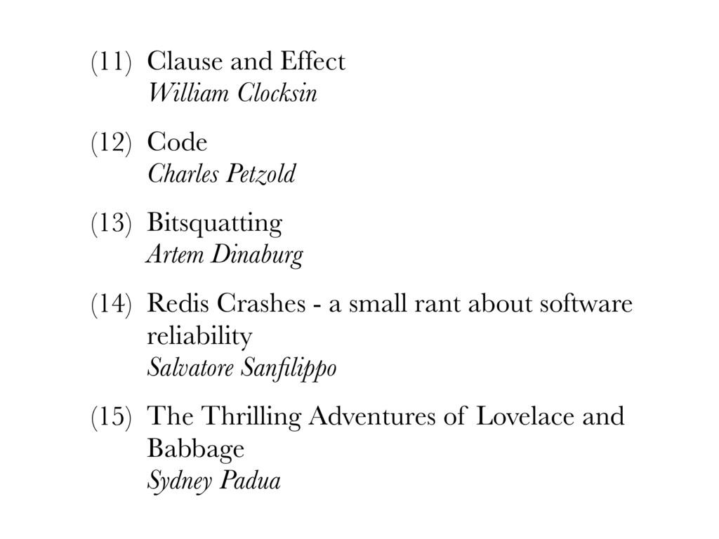 (11) Clause and Effect William Clocksin (12) C...