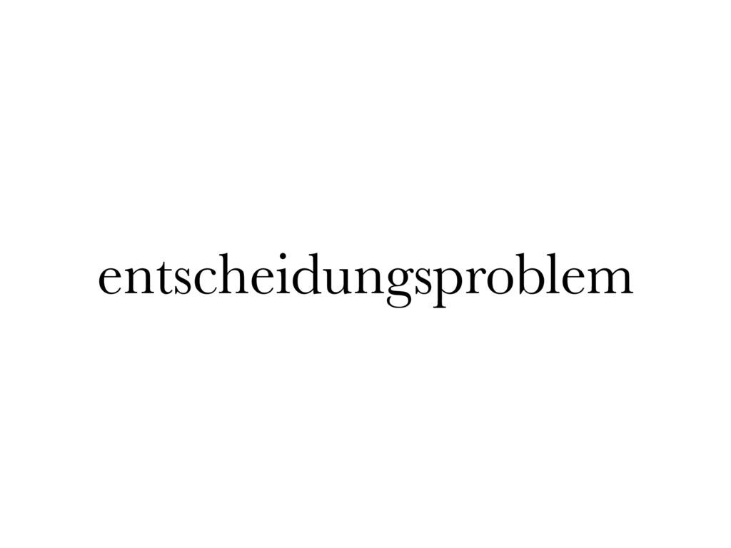 entscheidungsproblem