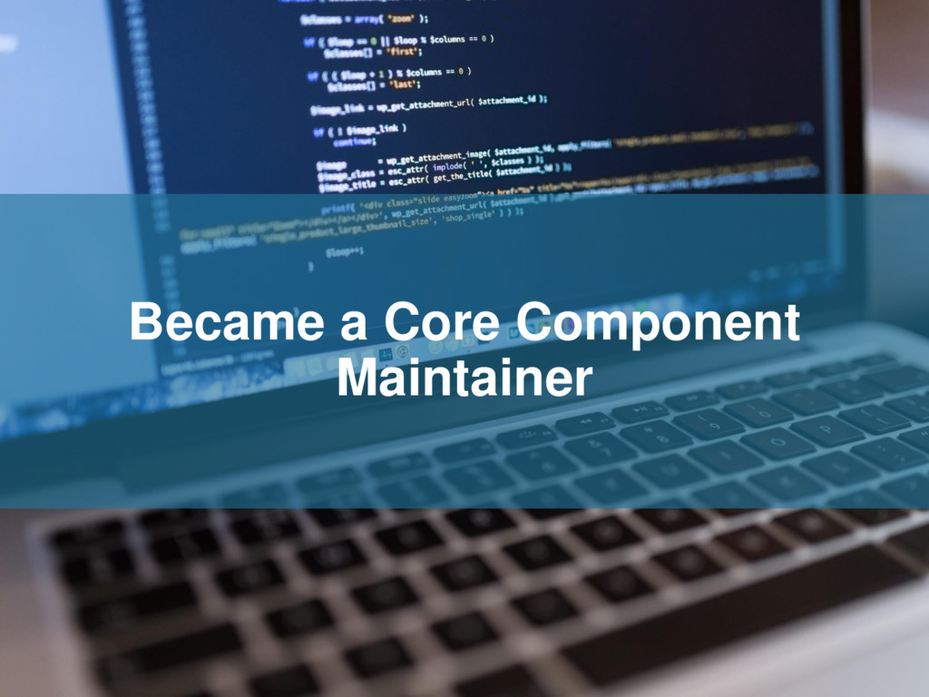 Became a Core Component Maintainer