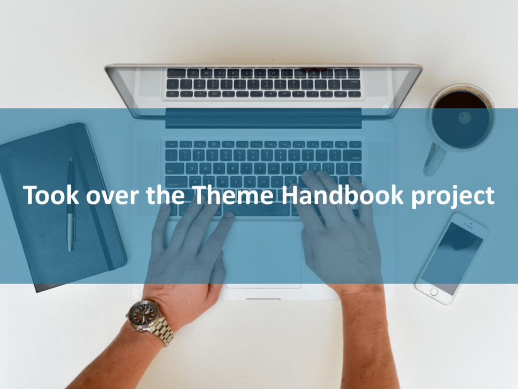 Took over the Theme Handbook project