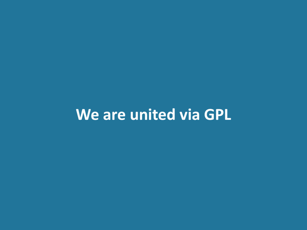 We are united via GPL
