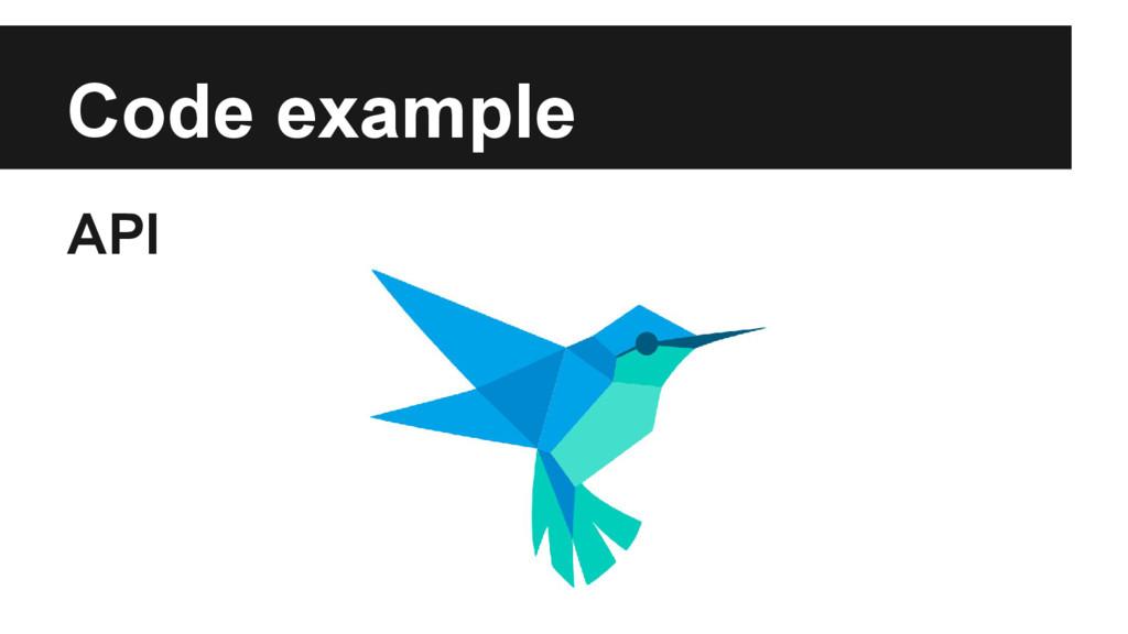 Code example API