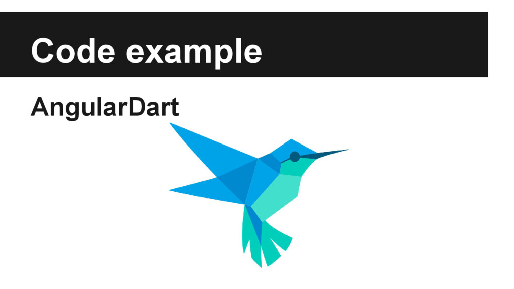 Code example AngularDart