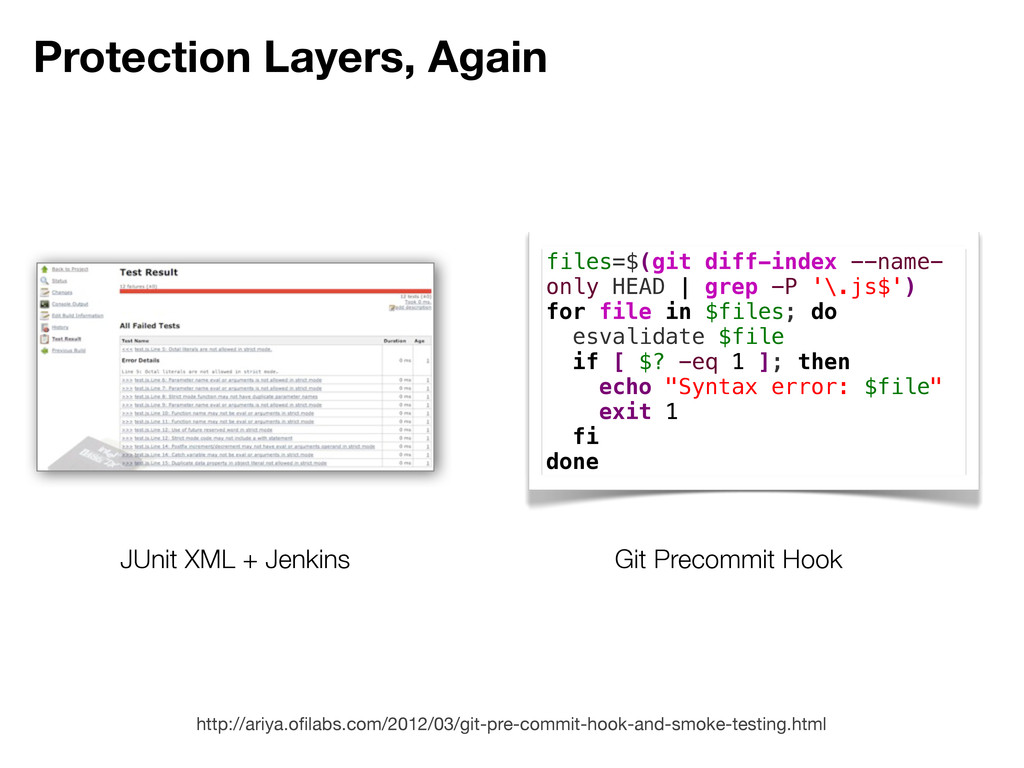Protection Layers, Again JUnit XML + Jenkins fi...