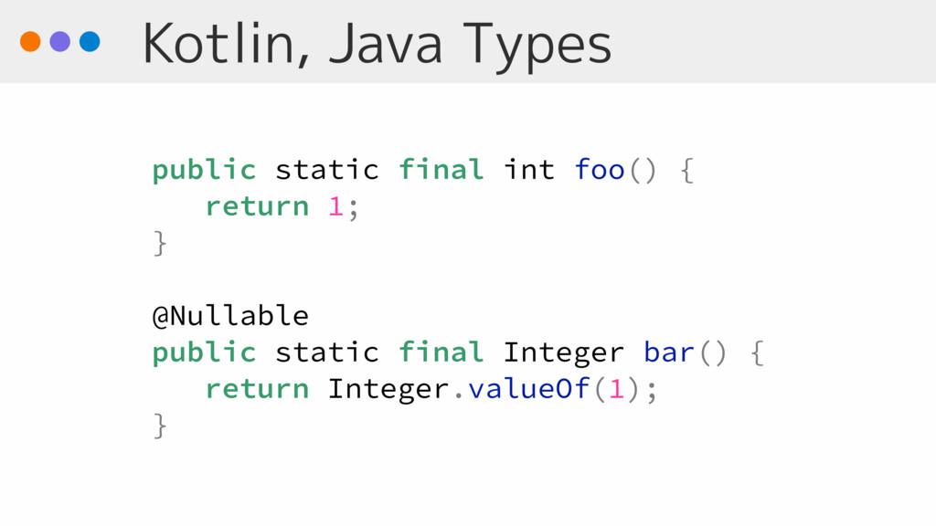 Kotlin, Java Types public static final int foo(...