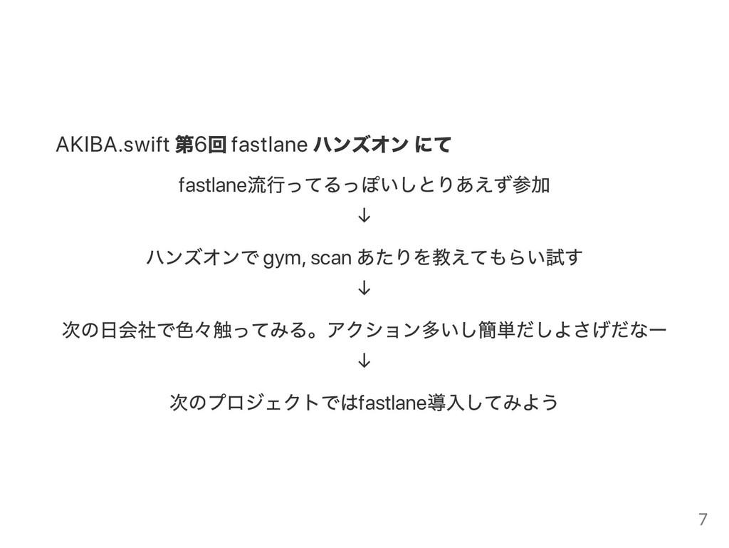 AKIBA.swift 第6 回 fastlane ハンズオン にて fastlane 流行っ...