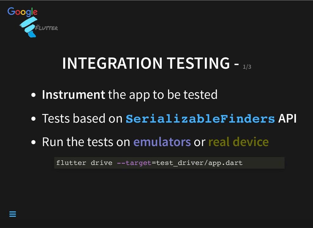INTEGRATION TESTING - INTEGRATION TESTING - 1/3...