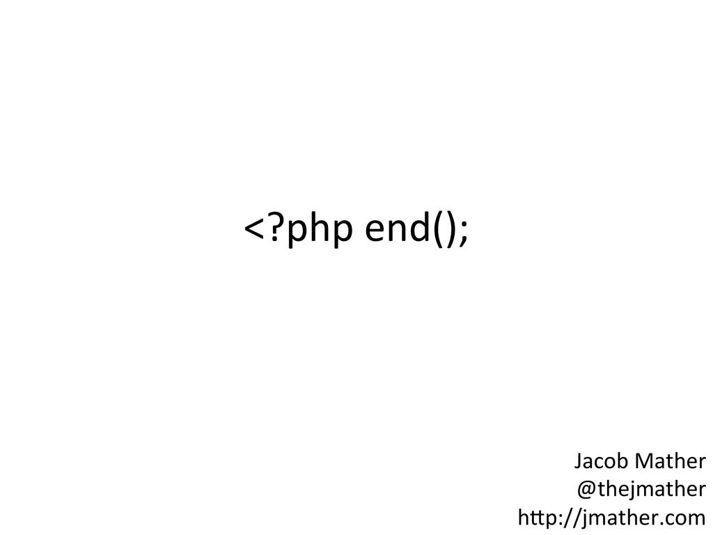 Jacob Mather  @thejmather  h-p://jmath...