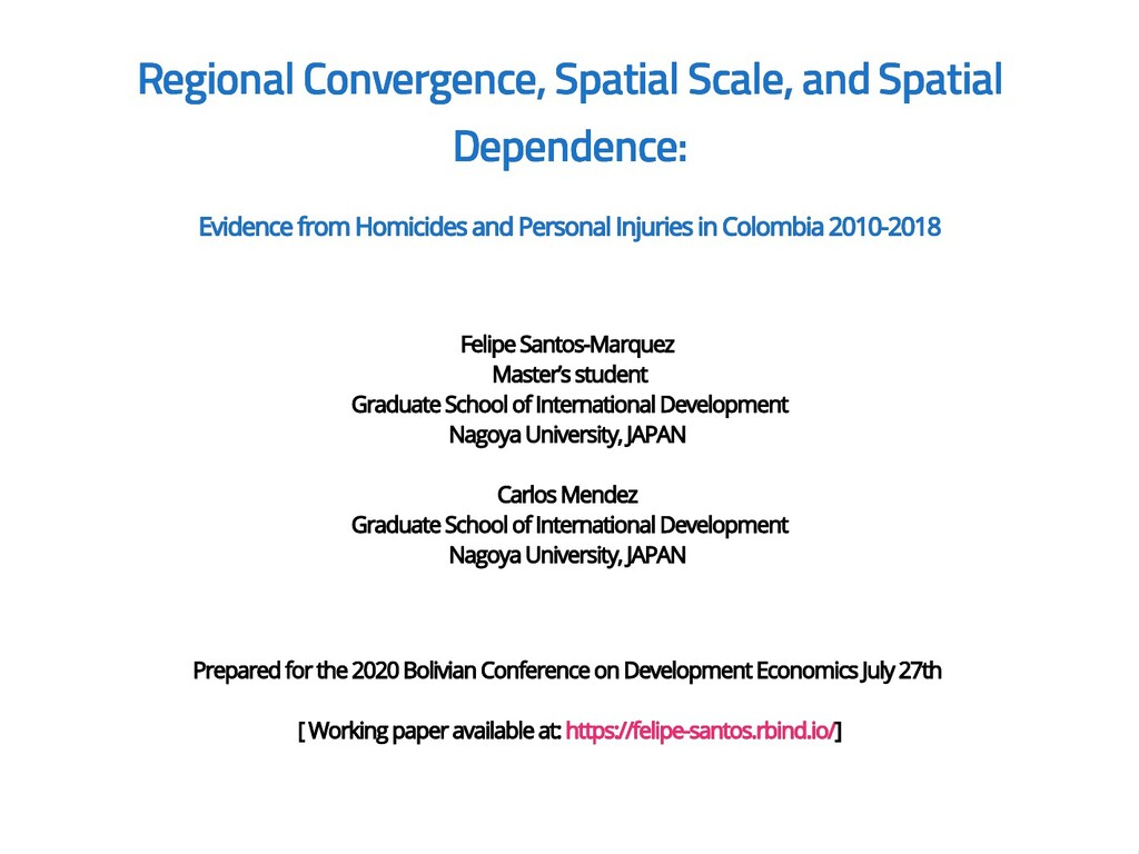 Regional Convergence, Spatial Scale, and Spatia...