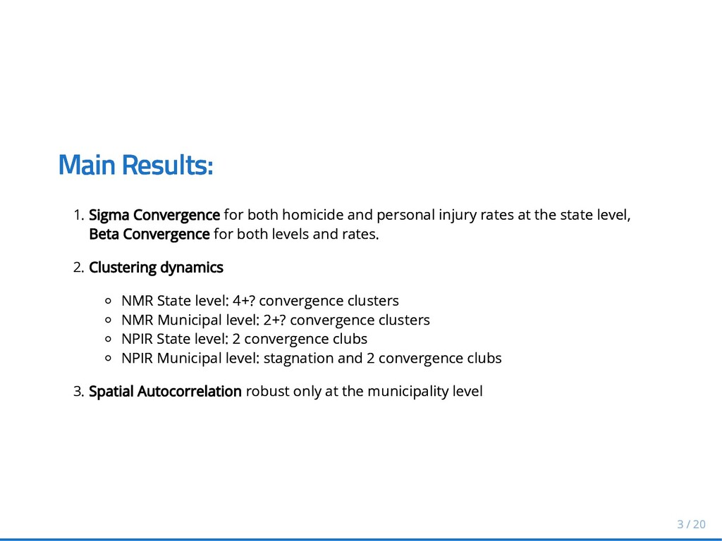 Main Results: Main Results: 1. Sigma Convergenc...