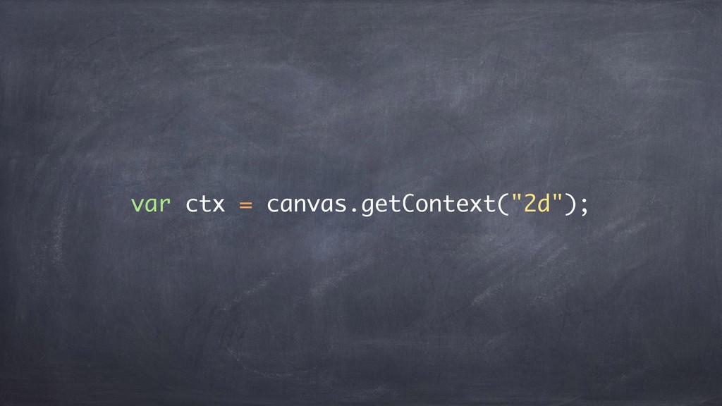 """var ctx = canvas.getContext(""""2d"""");"""