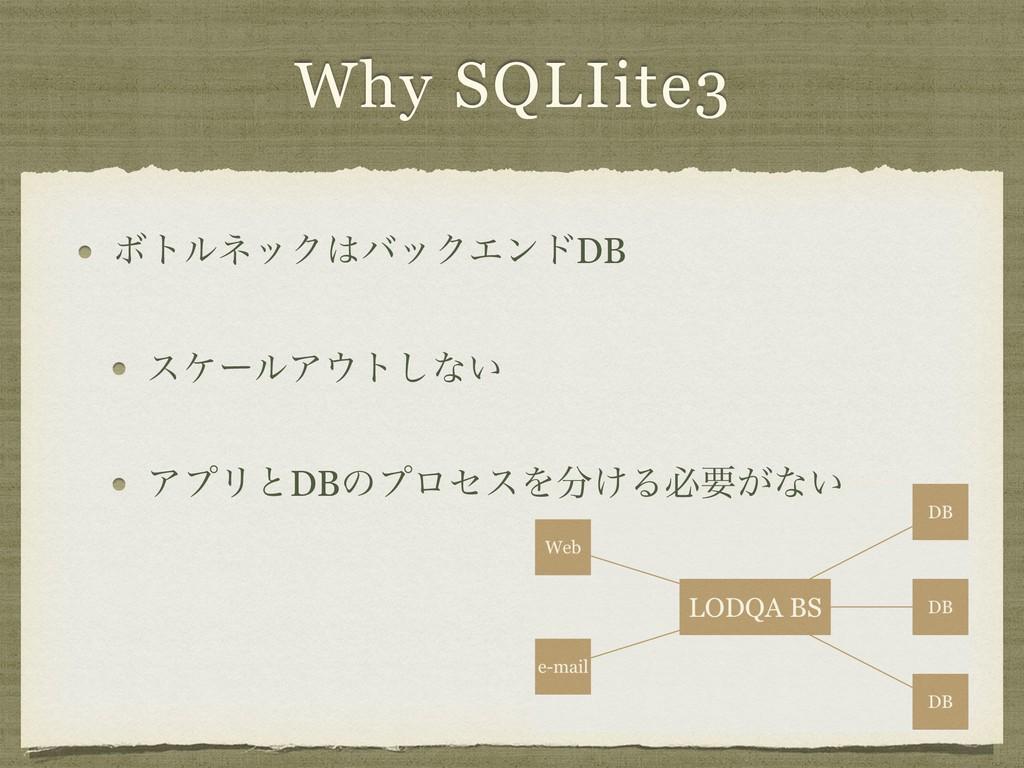 Why SQLIite3 ϘτϧωοΫόοΫΤϯυDB εέʔϧΞτ͠ͳ͍ ΞϓϦͱDBͷ...