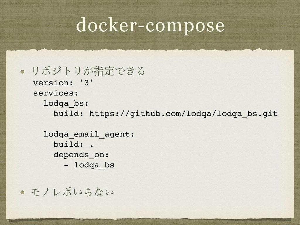 docker-compose ϦϙδτϦ͕ࢦఆͰ͖Δ      ϞϊϨϙ͍Βͳ͍ ...