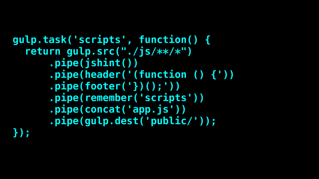 gulp.task('scripts', function() { return gulp.s...