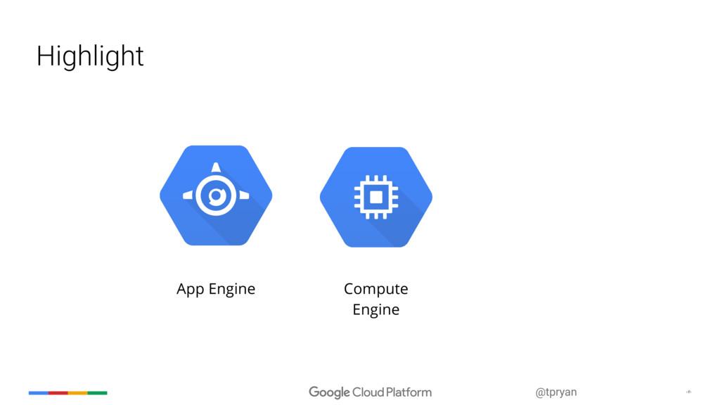 ‹#› @tpryan Highlight App Engine Compute Engine