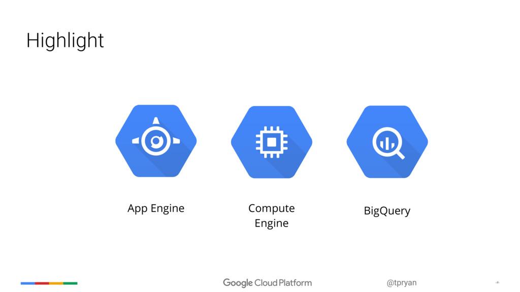 ‹#› @tpryan Highlight App Engine BigQuery Compu...