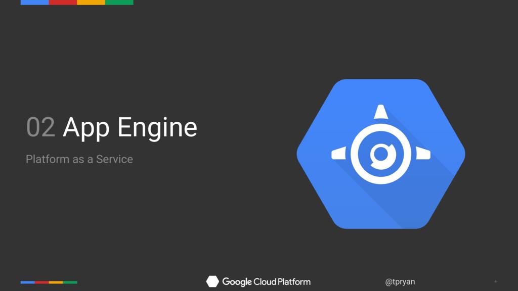 ‹#› @tpryan 02 App Engine Platform as a Service