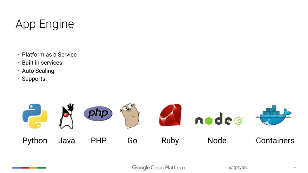 ‹#› @tpryan • Platform as a Service • Built in ...