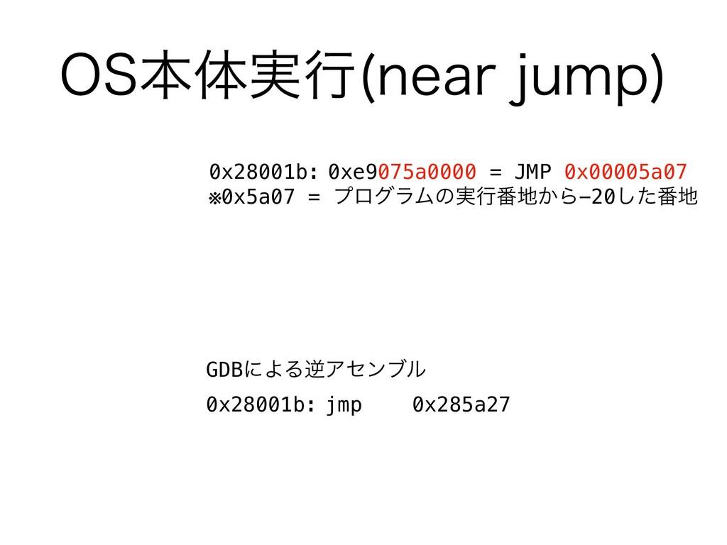04ຊମ࣮ߦ OFBSKVNQ  GDBʹΑΔٯΞηϯϒϧ 0x28001b: jmp 0x...