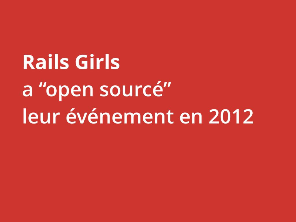 """Rails Girls a """"open sourcé"""" leur événement en 2..."""