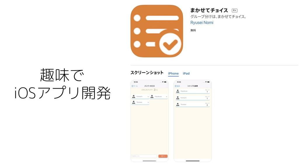 趣味で iOSアプリ開発