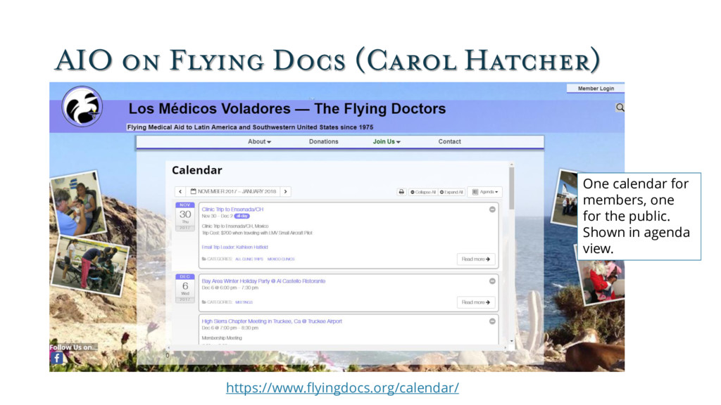 AIO on Flying Docs (Carol Hatcher) One calendar...