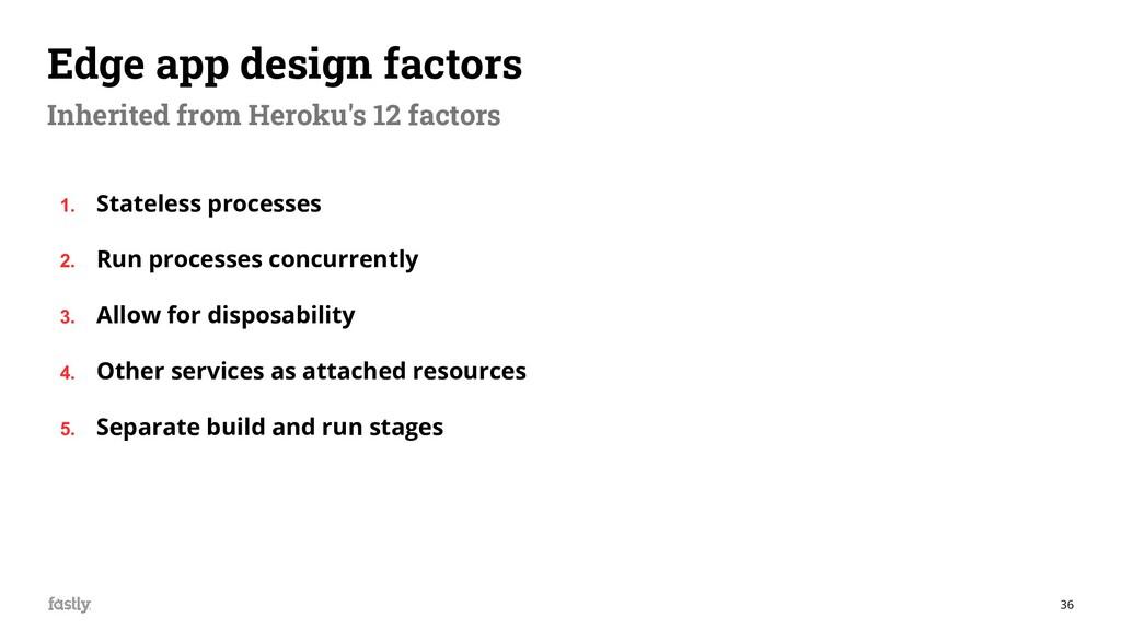 36 Edge app design factors Inherited from Herok...