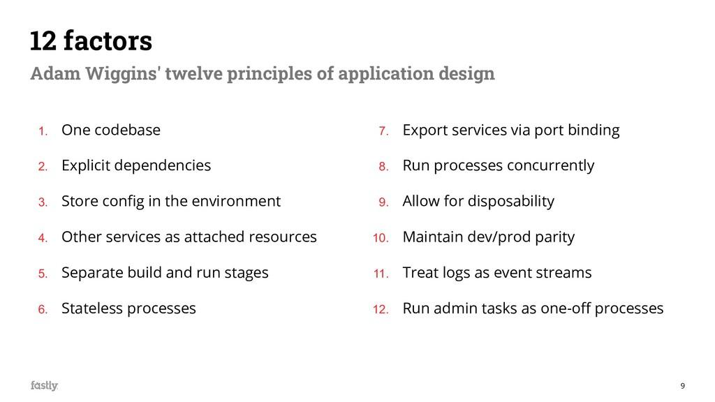 9 12 factors Adam Wiggins' twelve principles of...